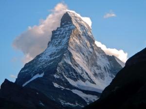 Postal: Monte Cervino en los Alpes