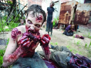 Postal: Zombis hambrientos en The Walking Dead