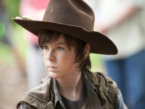 Carl, el hijo de Lori en The Walking Dead