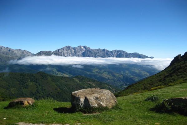 Vista de los Picos de Europa, Asturias, España