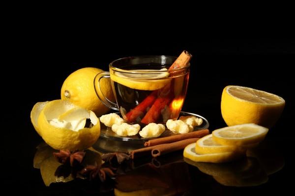Té con canela y limón