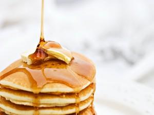 Tortitas con mantequilla y miel