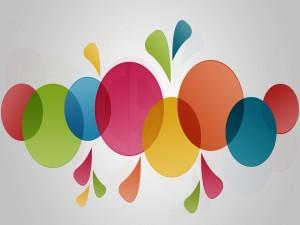 Postal: Círculos de colores