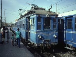 Postal: Antiguo tren eléctrico (Valencia, España, 1987)