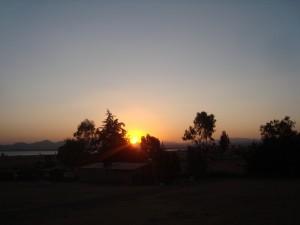 Postal: Terminando el día en un rancho en Hidalgo, México