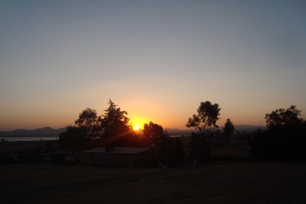 Terminando el día en un rancho en Hidalgo, México