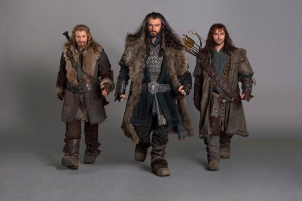 """Thorin, Fili y Kili en """"El hobbit: un viaje inesperado"""""""