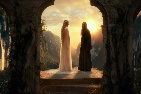 Galadriel y Gandalf