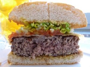 El interior de una buena hamburguesa