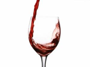 Postal: Copa de vino tinto