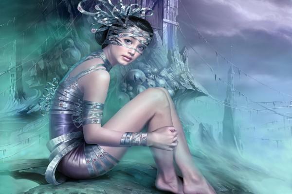 Princesa de ojos azules