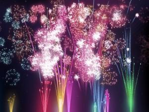 Celebración con fuegos artificiales