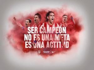Postal: Atlético de Madrid, campeones de la Copa del Rey 2013 (España)