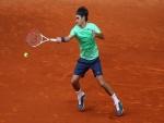 Roger Federer, jugando la final del Masters de Roma 2013