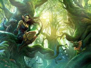 Postal: Elfa del bosque