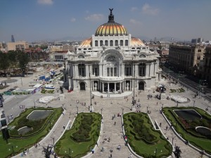 Postal: El Palacio de Bellas Artes (Ciudad de México)