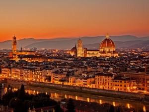 Postal: Basílica de Santa María del Fiore (Florencia, Italia)