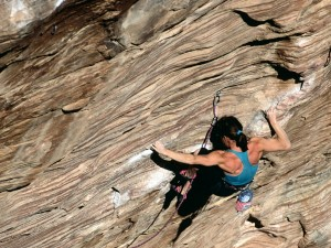 Tensión muscular en la escalada