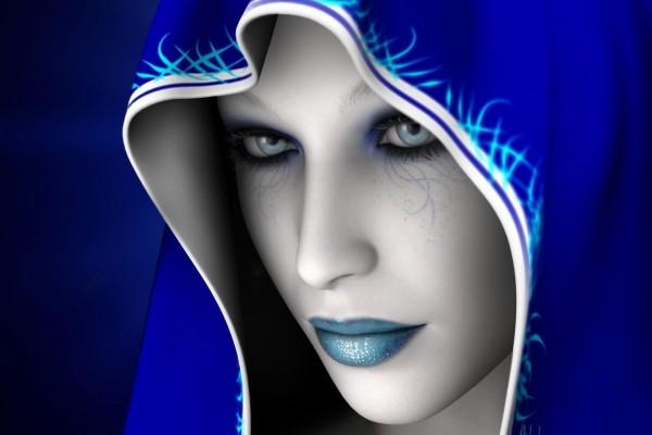 La mujer de azul