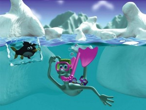 Postal: Buceando en el hielo