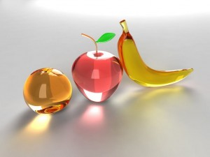 Frutas de cristal