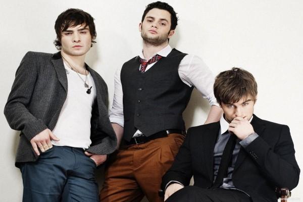 """Los tres chicos de """"Gossip Girl"""": Nate, Chuck y Dan"""
