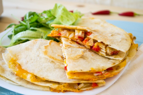 Quesadilla mexicana de pollo
