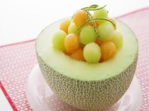 Postre saludable de melón