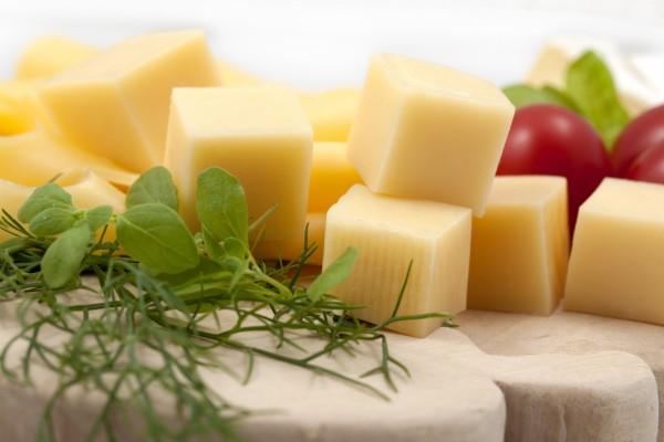 Dados de queso para picar