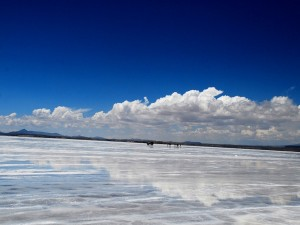 Postal: El salar de Uyuni, Bolivia