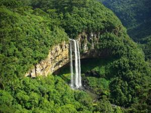 La cascada del Caracol, Estado de Rio Grande del Sur, Brasil