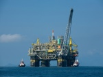 Plataforma petrolífera en aguas brasileñas
