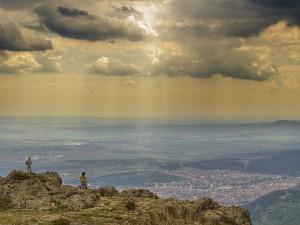 Vista de la ciudad de Sliven, Bulgaria