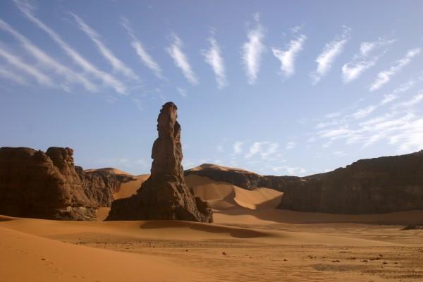 Formación rocosa en Tadrart Acacus, desierto del Sahara, Libia