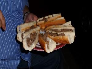 Postal: Bocadillos de hígado, típicos en Egipto