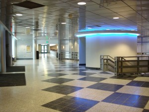Interior de la Universidad de Binghamton, Nueva York