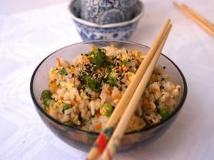 Cuenco con arroz chino