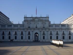 Desfile en el Palacio de la Moneda, Santiago de Chile