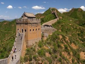 Postal: La Gran Muralla China (tramo de Jinshanling)