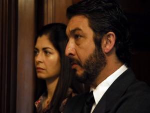 """Postal: Los actores Ricardo Darín y Soledad Villamil en """"El secreto de sus ojos"""""""