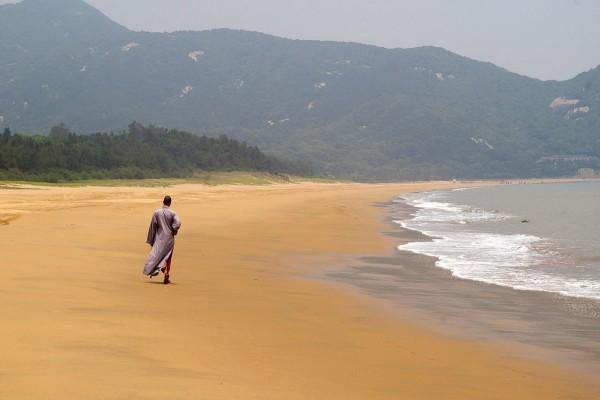 Playa en la isla del monte Putuo, China