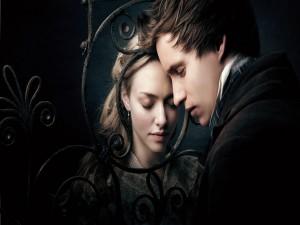 """Postal: Cosette y Marius, personajes de """"Los Miserables"""""""