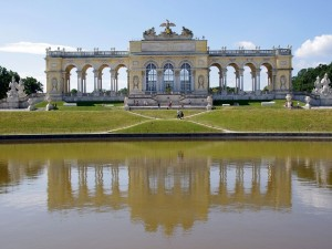 Postal: Glorieta del Palacio de Schönbrunn, Viena, Austria