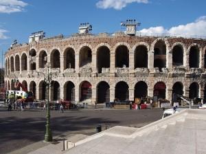 La Arena de Verona (anfiteatro romano), en Italia
