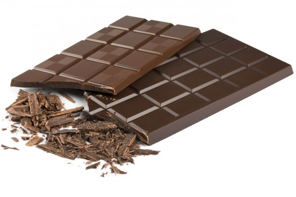 Dos tabletas de chocolate negro
