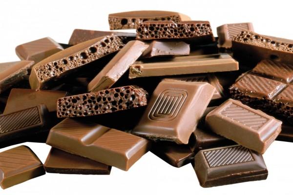 Distintas formas de chocolate