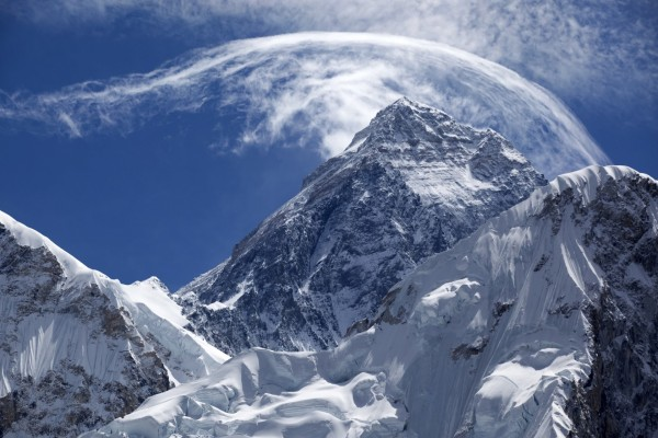 Nubes sobre el Everest