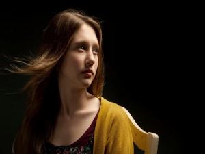 """Taissa Farmiga en el papel de Violet, primera temporada de """"American Horror Story"""""""