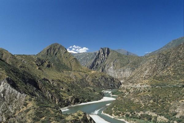 Paisaje de puna semihúmeda, en el Departamento de Ayacucho, Perú