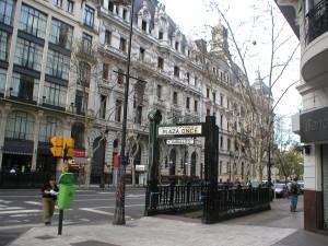 Postal: Entrada a una estación de Subterráneos de Buenos Aires (SBASE)